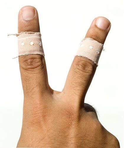 Wound Victory Sign