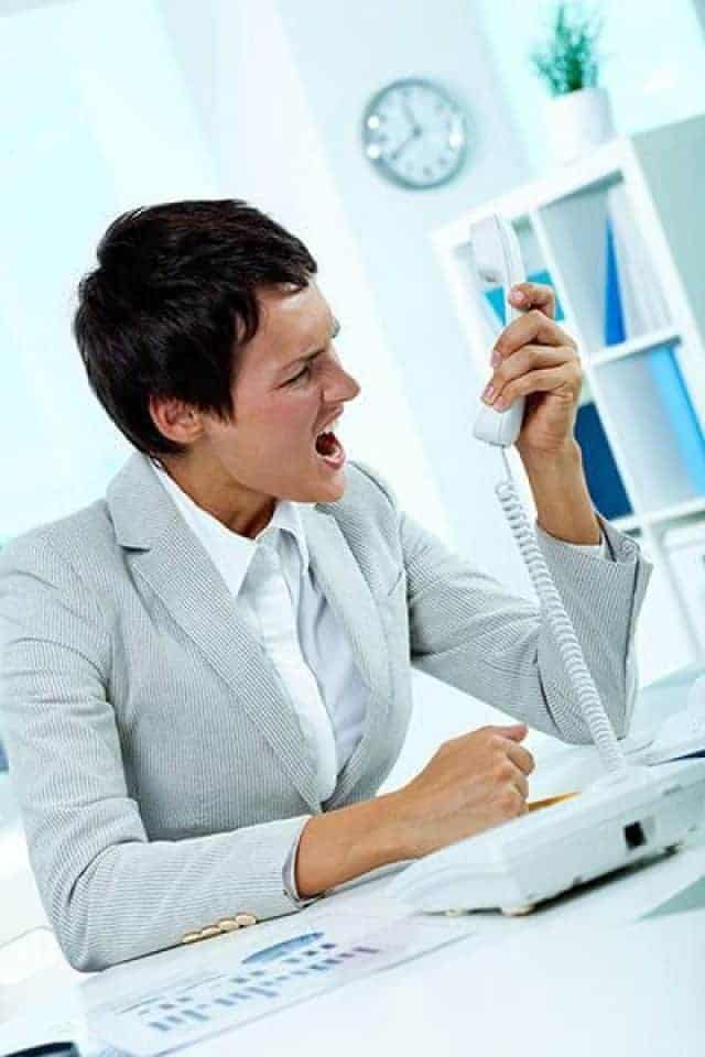 Woman Yelling On The Phone